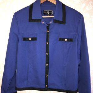 St. John Sport Royal Blue Blazer Jacket Large